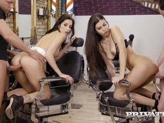 'PRIVATE com - honeys Anya Krey & Clea Gaultier Get Their cock-squeezing bums crammed!'