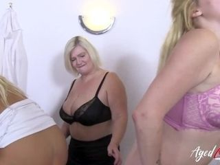 'AGEDLOVE 3 gals having fine time with insatiable stud'