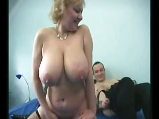 Granny fat Saggy chest Stockings Fucked