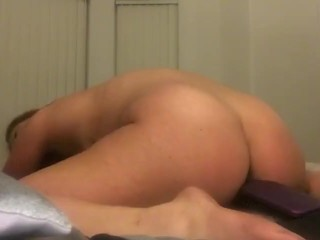 Insatiable cougar tongues Her jizz Off Hairbrush