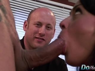 Cheating luvs observing His cougar wifey Mahina Zaltana Take It Up the caboose