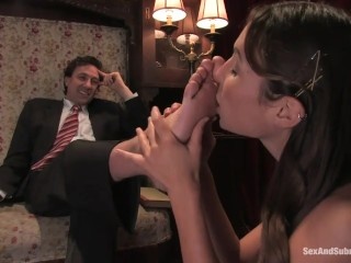 His domme predominates His wifey With a strap-on