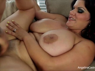 Angelina-Castro, thick-titted, Latina, Cuban, plus-size, duo, Miami-Girl, Phat-Ass, brown-haired, Big manmeat thick