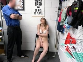 Brunette gets dominated and banged by an horny old officer