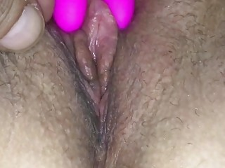 closeup wet pussie and horny clit