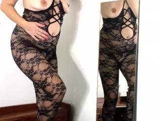 Youthfull housewife puts on glorious underwear. She wants to be the most glorious housekeeper. 2