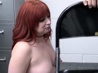 Pervy officer slams Amber Dawns milf pussy from behind