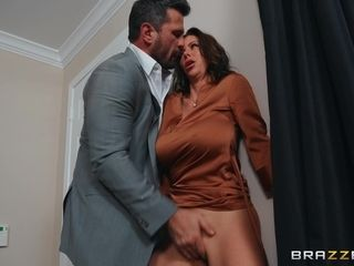 Alexis Fawx rolls around good-sized pecker of her manager