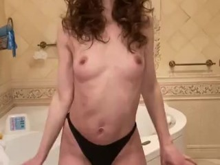 'Sexy Russian cougar after work dance striptease '