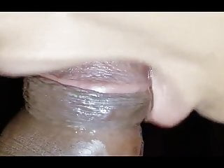 Close Up My  Lips  with  My Hubby's Dick
