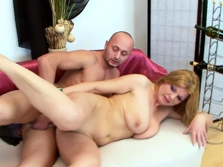 Rough Anal Sex for Hot Granny by Younger Big Dick Boy