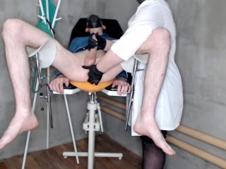 Nurse and prostate massage session