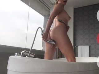 Gf practice With splatter At A motel apartment - Anastaxia Lynn