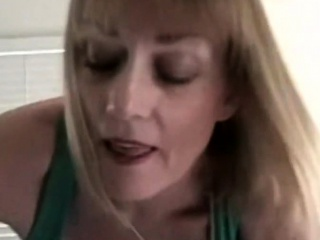 Mature buxomy blondie step-mother pleads to deep-throats my meaty penis