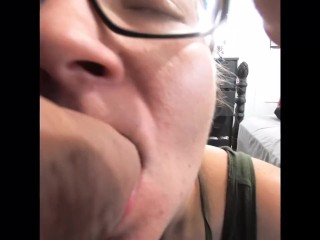 Premature Ejaculation Ruined Orgasm Blowjob viewed through cock cam