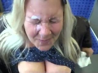 Huge tits Messy facial