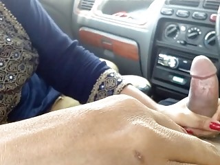 First Time She rides My Dick In The Car, Public Sex