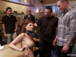 mom in gangbang in public shop