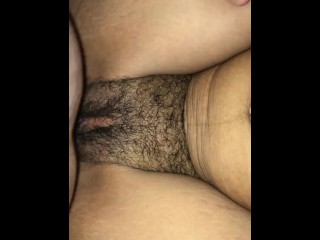 Hairy Pussy Gets Filled