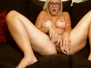 Unbelievable clever big-boobed blond Vanessa Stone in spectacular glasses