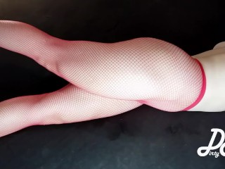 Crossed gams onanism in crimson fishnets ~DirtyFamily~