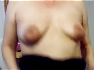 Share the wife's 36 B large nippled breasts