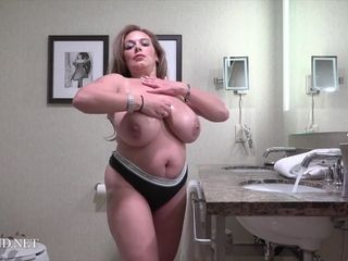 Gorgeous mature Christina Valentina shakes giant boobs
