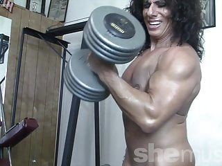 Torn doll Muscle milf nude in the Gym