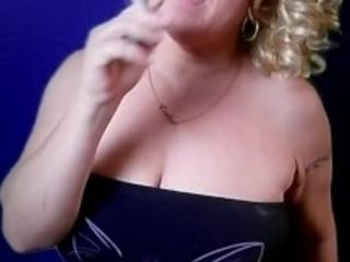 'MILF SMOKING Cigarettes TOPLESS BIG BOOBS'