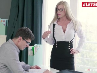 DoeProjects - Lara De Santis Romanian MILF Teacher Seduces And Fucks Horny Student - LETSDOEIT