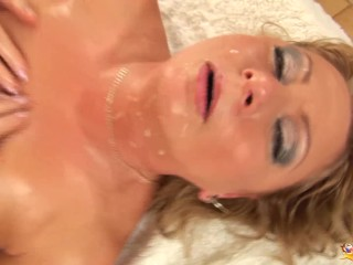Lush lubricated mother raunchy fisted