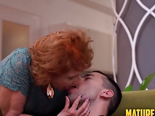 Grandma Katalina is getting a internal ejaculation from her junior suitor