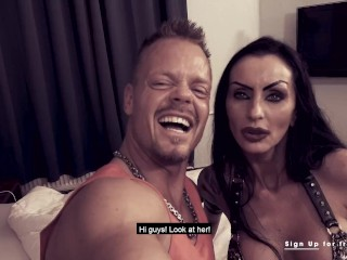 German cougar Sidney Dark receives a jism in her facehole after porking his pipe! Steven disgrace Dating