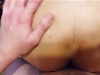 Old Ebony Pussy Overflowing With Cum (Interracial)