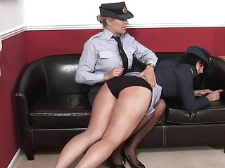 Military lady slapped by cougar