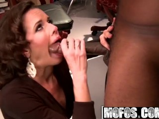 MOFOS - filthy mega-slut Veronica Avluv gets face penetrated and rails some big black cock